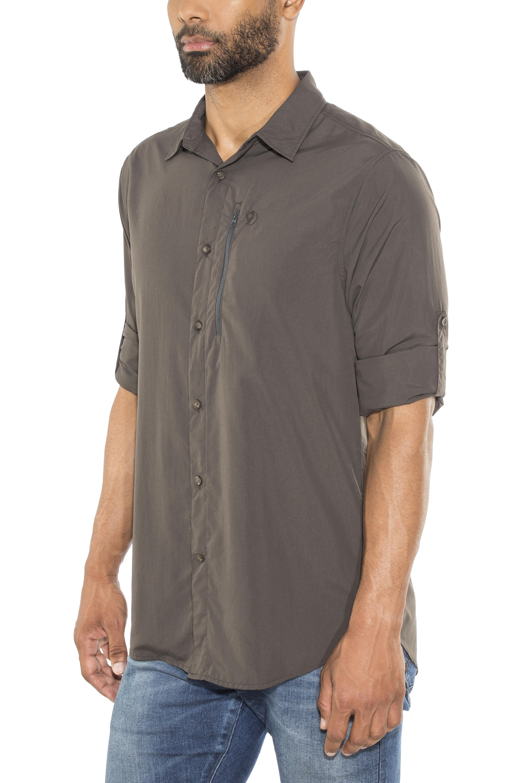 Fjllrven Abisko Hike Longsleeve Shirt Men Grey At Fjallraven 35 Green